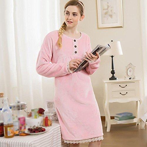 Accappatoio di lusso Accappatoi da donna spessa Calda e morbida assorbente da donna Robe da notte per la casa Regalo di festa Camicia da bagno con scialle per adulti ( Color : Rosa , Size : XXL ) Rosa
