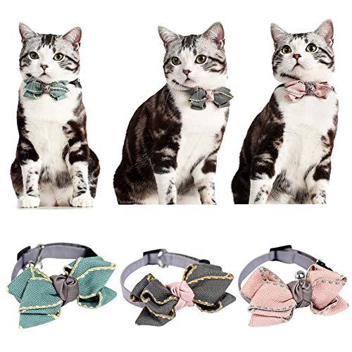 Etophigh Haustier-Kragen-Justierbare Querbinder für Katzen und Kleine Hunde Arbeiten Baumwollkrawatte für Teddy-Chihuahua um