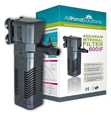 Aquarium Internal Fish Tank Filter Pump (600L/H)