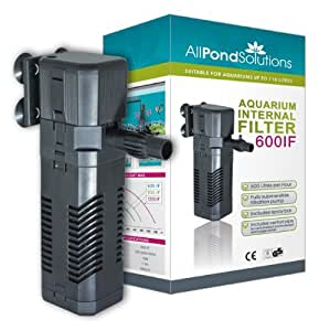 All pond solutions 600if aquarium internal filter 600 for Internal fish tank filter