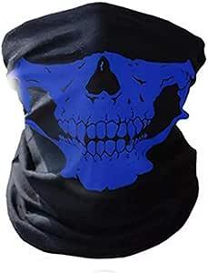 Woo Lando Sport Maske Mit Skelett Multifunktional Als Gesichtsmaske Kopftuch Oder Stirnband Für Fahrrad Motorrad Ski Auto