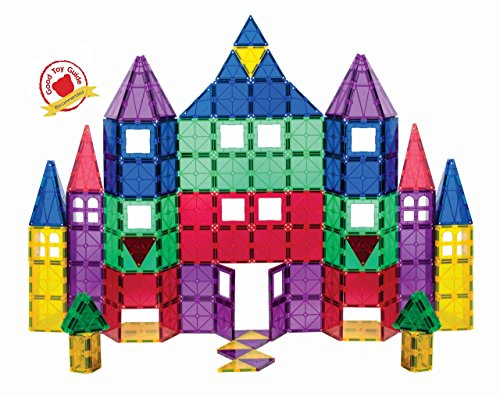 Playmags Clear Colours Magnetic Tiles Deluxe Building Set