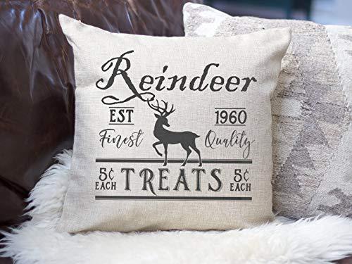 ehandelt Weihnachten Kissenbezug Rudolph Kissenbezug Bauernhaus Urlaub Kissenbezug rustikale Weihnachten Kissenbezug ()
