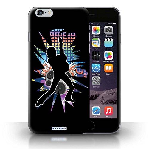 KOBALT® Hülle Case für iPhone 6+/Plus 5.5   Windmill Schwarz Entwurf   Rock Star Pose Kollektion Lehnen Schwarz