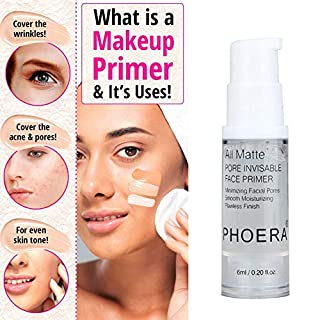 Primer clifcragrocl 6ml 18ml Moisturizing Pore Invisible Base Face Primer Cream Women Makeup Tool - 6ml