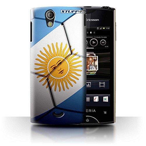 Stuff4® Hülle/Hülle für Sony Xperia Ray/ST18i / Argentinien Muster/Fußball Nationen Kollektion