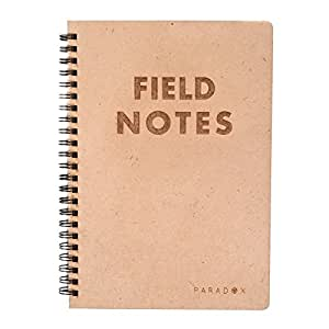 Paradox A5 NOTEBOOK FIELD NOTES NOTEBOOK WITH LASER ETCHING WOODEN COVER