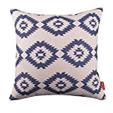 Kingla Home Square Cotton Linen Decorative Throw Pillow Covers 18