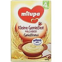 """Milupa Grießbrei mit Milch Miluvit """"mit"""" nach dem 4. Monat, 500 g Packung"""