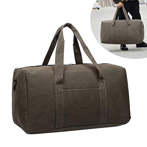 Fastar Rolling Duffle Large Bag, Sports Casual Leinwand atmungsaktiv wasserdichte Handtasche Reisetasche Gym Sporttasche 36–55L, coffee (Tasche Rolling Duffle)