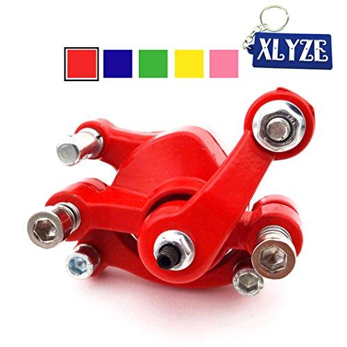 XLYZE Bremssattel Scheibenbremse vorne für 43cc 47cc 49cc Pocket Bike Mini Dirt Bike Elektro Scooter Go Kart rot