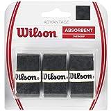 Wilson Advantage Confezione da 3 grip, Unisex – Adulto, Nero, Taglia Unica