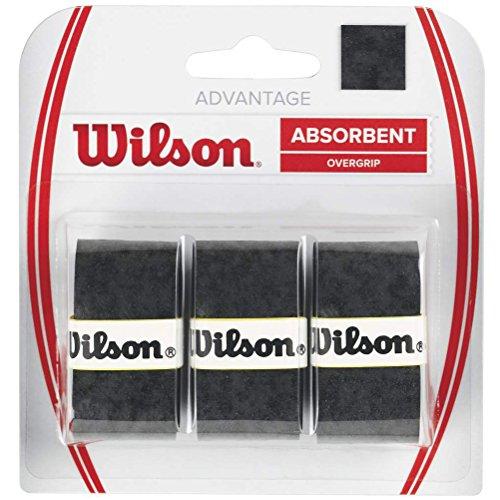 Wilson WRZ4033BK Nastro OverMateriale Grip per Racchetta da Tennis, Nero