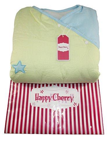 Happy Cherry – Saco de Bebés Niños de Dormir Larga Manga Manta Acolchado Algodón Primavera Verano – Gato – Azul – 90cm, 6 meses – 2 años
