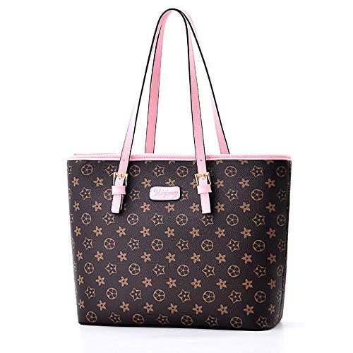 LFGCL Taschen womenHandbag weibliche alte Blume PU Crossbody dreidimensionale große Kapazität Frauen Umhängetasche, Pink