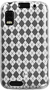DECORO CSMOTATRIXCLCK Premium Crystal Skin Case with Checker Texture for Motorola MB860/ATRIX - 1 Pack - Retail Packaging - Clear/Checker