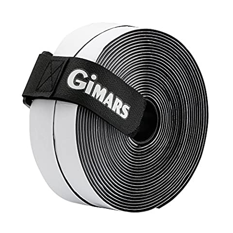 Gimars 20mm Wide 6 Meters Long Self Adhestive Hook And Loop Strips Set, With Super Sticky Back Nylon Fabric Fastener Magic Tape,