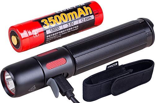USB wiederaufladbare leistungsstarke militärische taktische Taschenlampe 1000 Lumen Batterie Hochleistungs-LED-Taschenlampen LED-Handtaschenlampe 18650 CR123A Outdoor Police Wasserdichte taktische tragbare Camping-Tasche