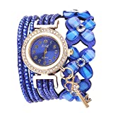 Damenuhr,Gaddrt Flowers Geneva Watches Modische Stilvolle Quarz Armband Damen Diamant Uhr (Blau)