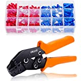 Crimping Tool Set, Exwell 0.5-2.5mm² Self Adjustable Ratchet Wire Crimping Tools with 450 Wire Terminal Crimp Connector Ferrule Cord Pin End
