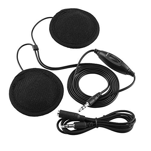 Kit cuffia casco moto, casco moto universale Cuffia cuffia stereo chiamata cuffia da 3,5 mm Jack-plug con cavo di prolunga, per cellulare MP3