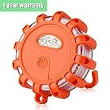 Luz giratoria de aviso de AMBOTHER®, LED intermitente, con imán, 10 modos de iluminación de seguridad para el servicio de asistencia en carreteras, 5W, 150 lúmenes (naranja)