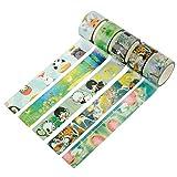 Souarts Washi Tape Masking Tape DIY Dekoband Klebeband Schmetterling Tier Muster 5er Set