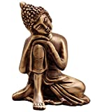 #7: eCraftIndia Metal Resting Buddha on Knee