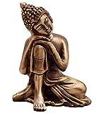#1: eCraftIndia Metal Resting Buddha on Knee