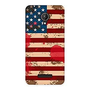 Special Grunge USA Flag Multicolor Back Case Cover for Micromax Canvas Spark Q380