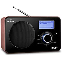 auna Worldwide Radio de internet (WLAN/LAN, receptor DAB/DAB+, USB, AUX, radio FM/AM, despertador, minicadena con temporizador) - negro