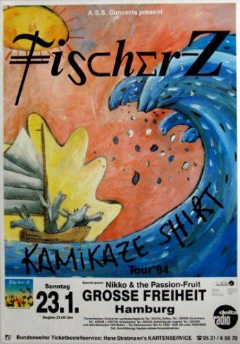 FISCHER Z - -{1993} concerto Poster - Kamikaze dogsitter - Tour Poster - Concert