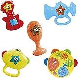 PlayGo - Set 5 instrumentos jazz: guitarra, trompeta, maracas y 2 panderetas (Colorbaby 1308)