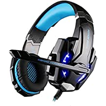 [Versione Aggiornamento] PC PS4 per gaming musica cuffie, Megadream®? KOTION EACH G9000 3,5 mm spina Stereo Over Ear Gaming Headset con microfono luce a LED per Sony Playstation 4 COMPUTER PORTATILE Tablet iPhone Samsung cellulare