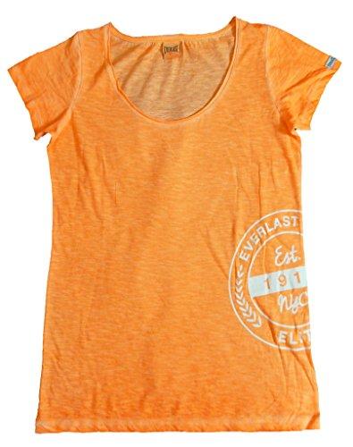 Everlast T-Shirt Femme 22W645g67Jersey Slub Coll Dyed Orange fluo (Orange fluo) arancione