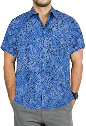 it Klassische zufällige tägliche Abnutzung Regular fit Strand Hawaiihemd Blau_AA152 XL-Brustumfang (in cms):121-132 ()