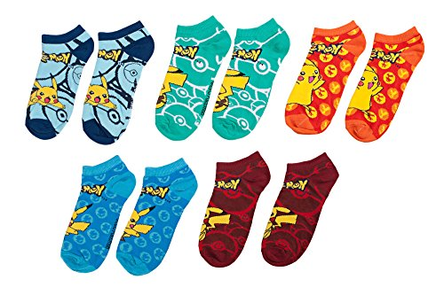 Pokemon-Mix-and-Match-Ankle-Calcetines-Set-of-5