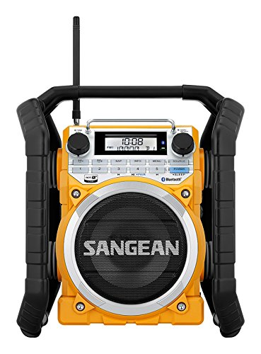 Sangean U4 BT-Radio de obra antigolpes, Bluetooth, color amarillo