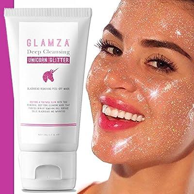 Glamza Unicorn Glitter Peel Off Mask Deep Cleansing Pore Black Head Blackhead Skin Care from Glamza