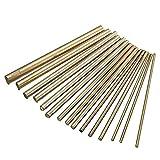 Barre cilindriche in ottone, diametro 2-8 mm, lunghezza 100 mm, 15 pezzi