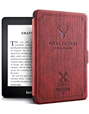 """ProElite Deer Smart Flip case Cover for All Amazon Kindle 6"""" 10th Generation 2019 [Wine Red]"""