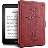 "ProElite Deer Smart Flip case Cover for Amazon Kindle 6"" 10th Generation 2019 [Wine Red]"