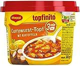 Maggi 6er Pack Currywurst-Topf mit Kartoffeln, 6 x 380 g Becher, Topfinito