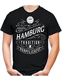 Mein leben Hamburg T-Shirt | Trikot | Fussball | Bekleidung | Herren | Fan | M1 Front