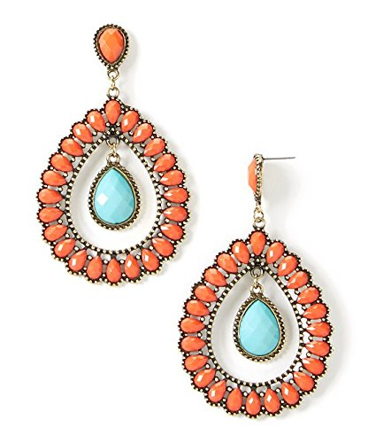 lux-accessories-coral-turquoise-inset-teardrop-earrings