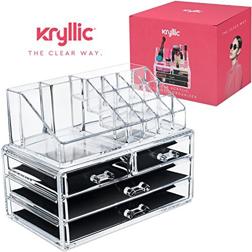 Acrylic Makeup Organizer Cosmetic Jewerly Display Box 2 Piece Set by AcryliCase�