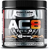 AC8 Xtreme | HARDCORE Pre Workout Booster Nahrungsergänzungsmittel | MAXIMUM STRENGTH Pre-Workout Booster, 20-40 Portionen | 300 g (Frucht-Punsch)