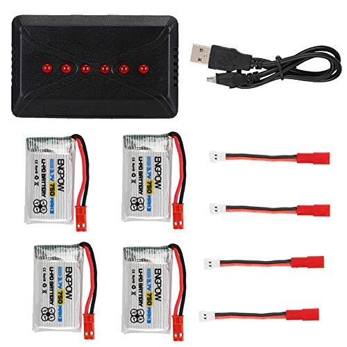 idalinya große Kapazität Lithium-Batterien Engpow 3.7v 750mah Lithium-Batterie Ersatz + Ladegerät für Rc Quadcopter(01) -