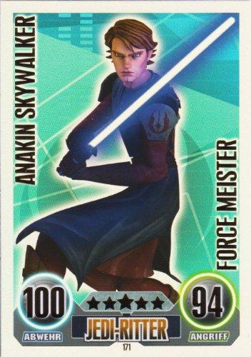 Star Wars Force Attax Einzelkarte 171 Anakin Skywalker Jedi-Ritter Force Meister deutsch (Jedi-meister Star Wars,)