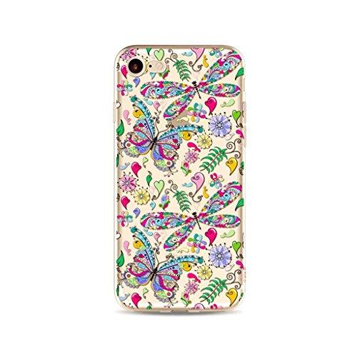 mutouren-para-iphone-se-5-5s-fundalibelulas-y-mariposas-tpu-transparente-protectora-de-silicona-de-g